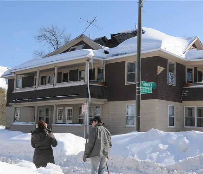 Storm Damage Roofs, Gutters, Snow and Rain do not mix......